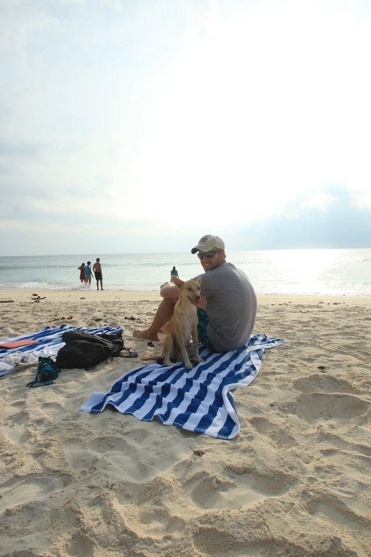 Ben's new beach mate