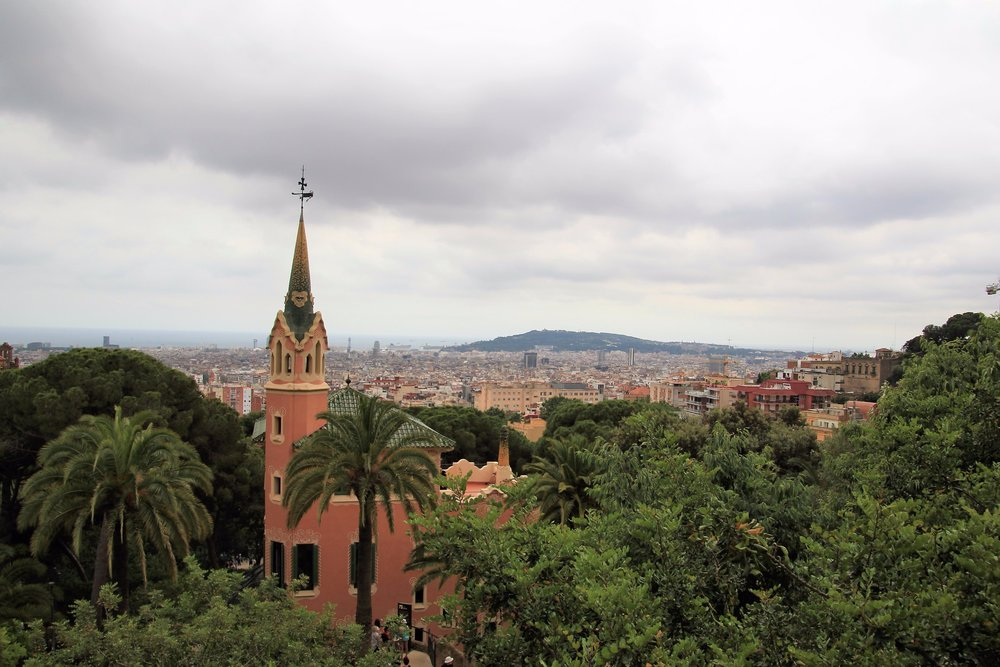 View of Gaudi's home