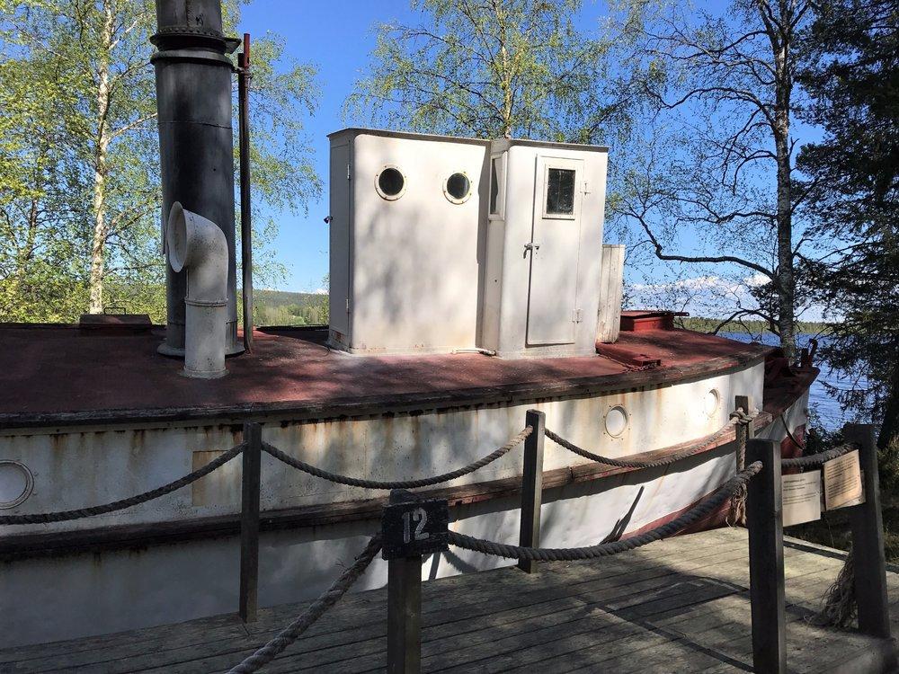 100 yr old logging boat