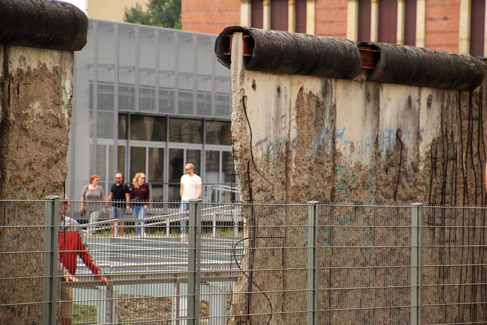 Remaining sections of the Berlin Wall
