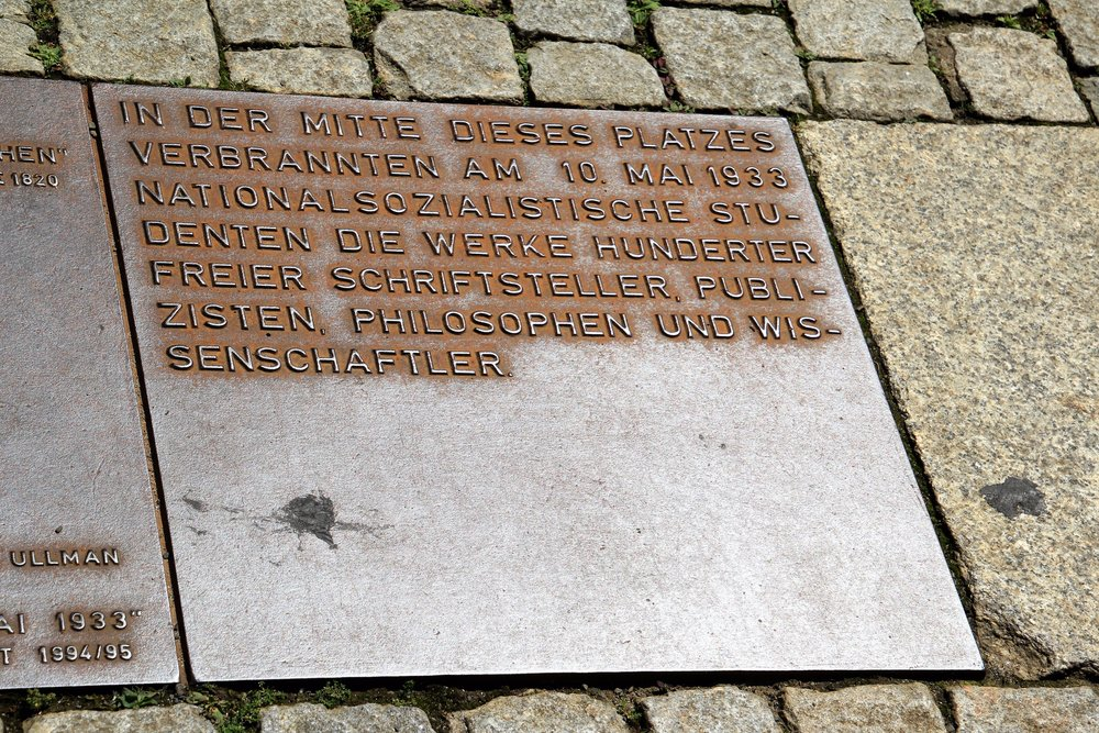 Nazi book burning site