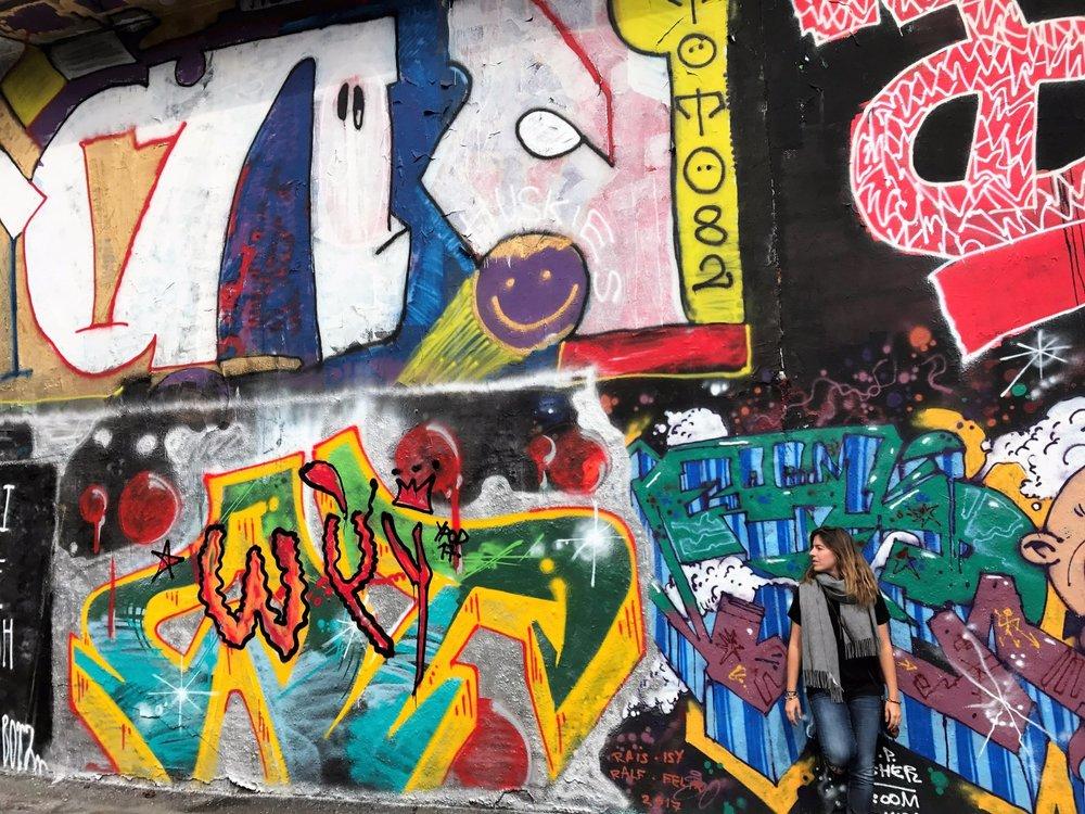Prague's graffiti wall