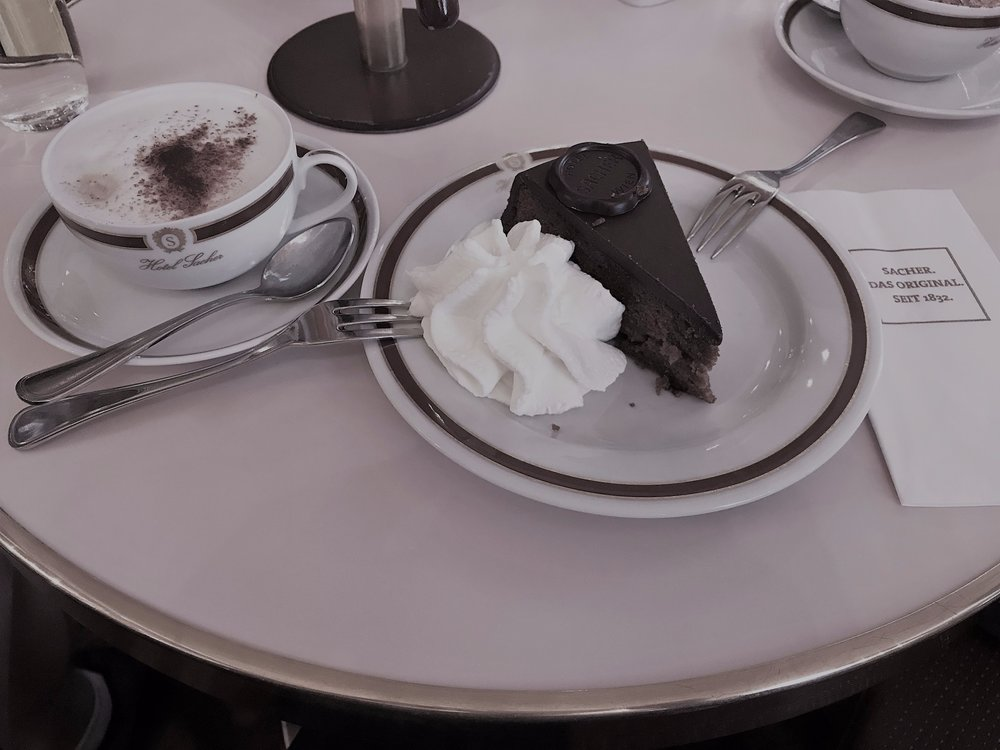 Sachertorte & morning cappuccino