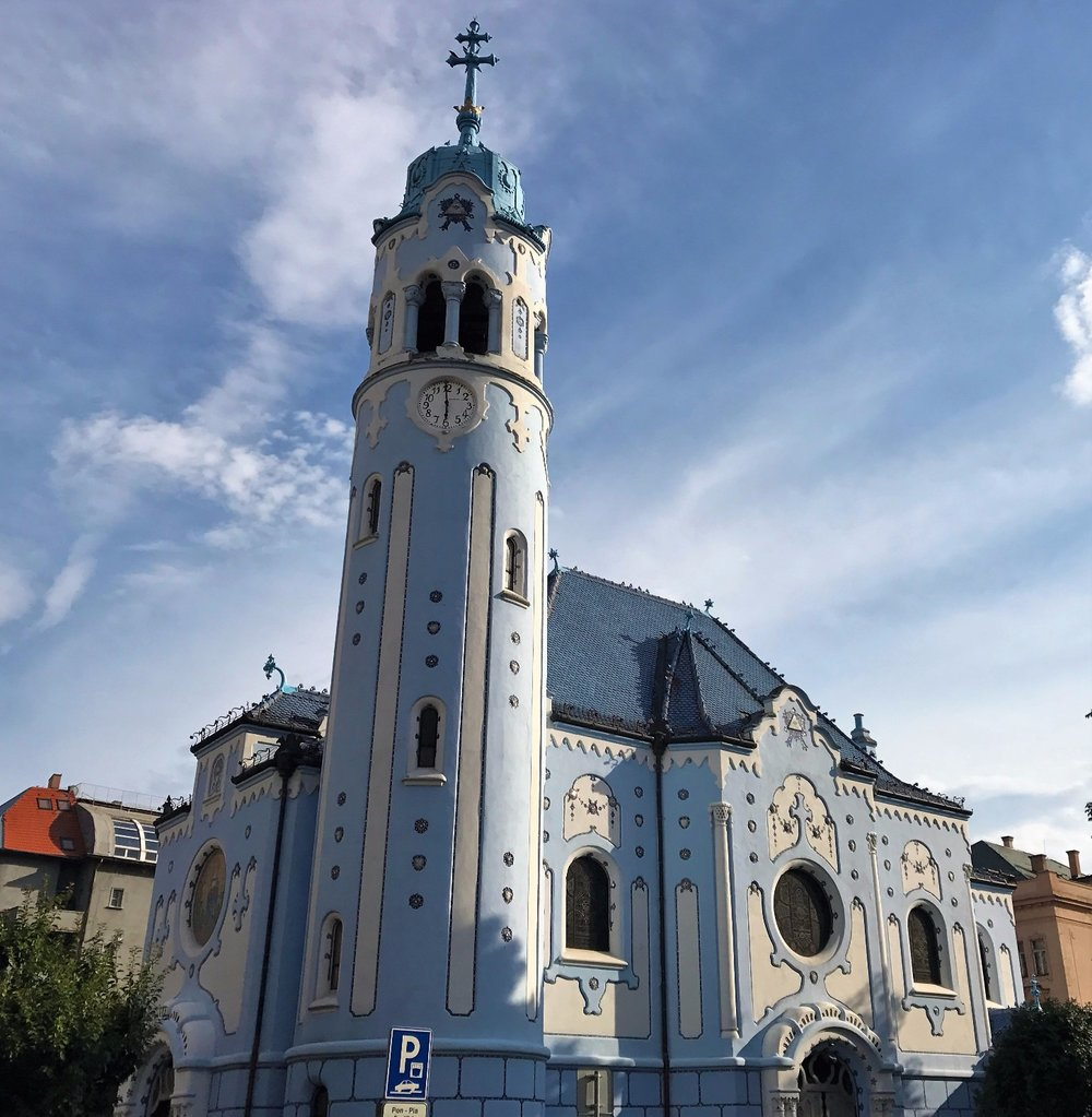 """Church of St. Elizabeth; the """"Blue Church"""""""