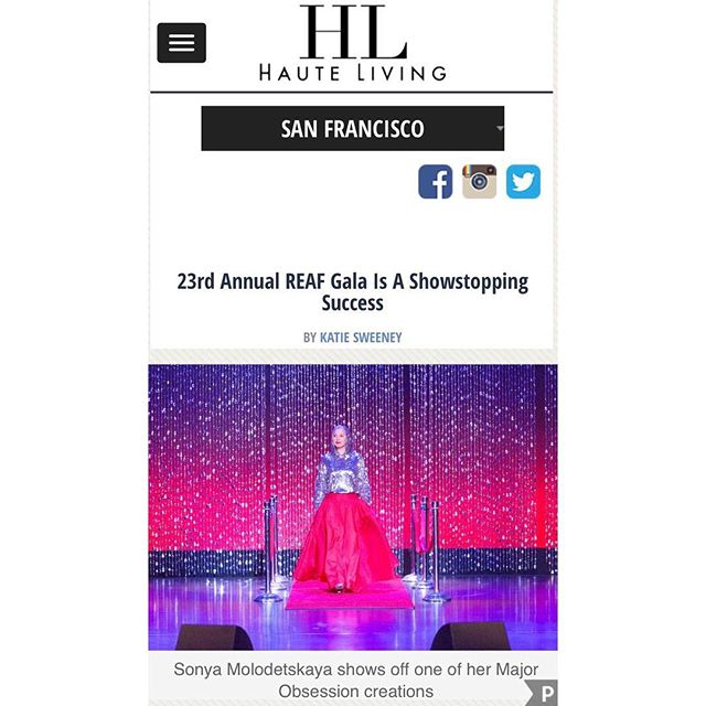 Proud and honored to be part of this great cause. Thank you @sweenkat @hauteliving for featuring @majorobsessions  #REAF #gala #charity @majorobsessions #auction #redcarpet #style #sanfrancisco