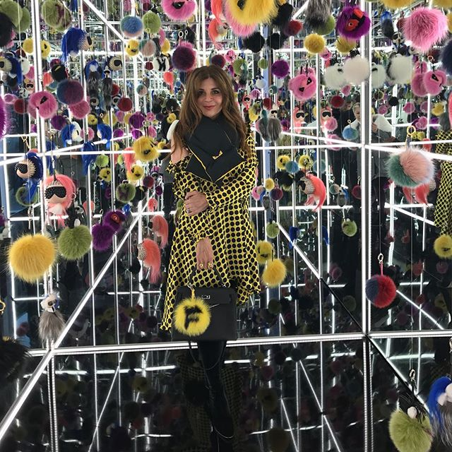 @farahmakras looking stunning in @majorobsessions yellow polka dot dress pairing with @fendi . Fendi boutique inauguration San Francisco  #whatiwore #majorobsessions #obsessed #obsession #design #russiandesigner #sanfrancisco #collection #springsummer2017 #womansfashion #fashion #womenwear #photography #fashionphotography #style #trend #musthave #стиль #мода #стиль #дизайн #дизайнер #коллекция #весналето2017 #инстамода #стильно #мода #тренд #тренд2017