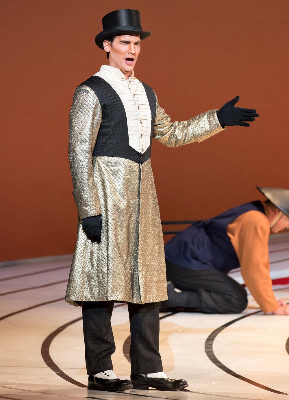 Prince Yamadori in  Madama Butterfly  at Washington National Opera. Photo by Scott Suchman.