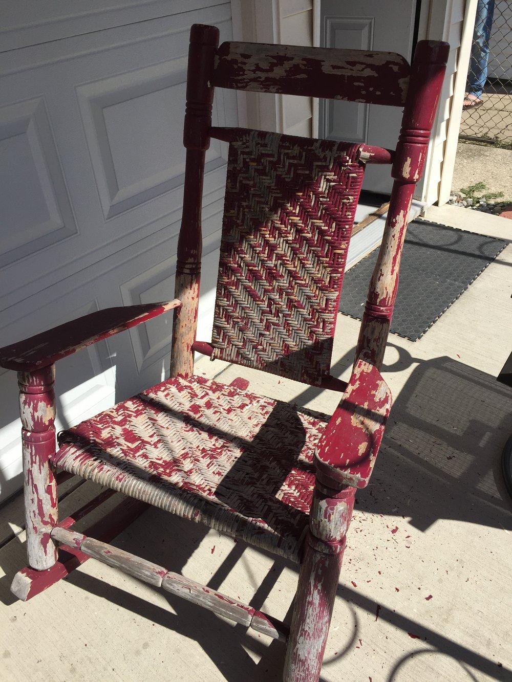 Vintage rattan rocking chair - Vintage Rattan Rocking Chair 54