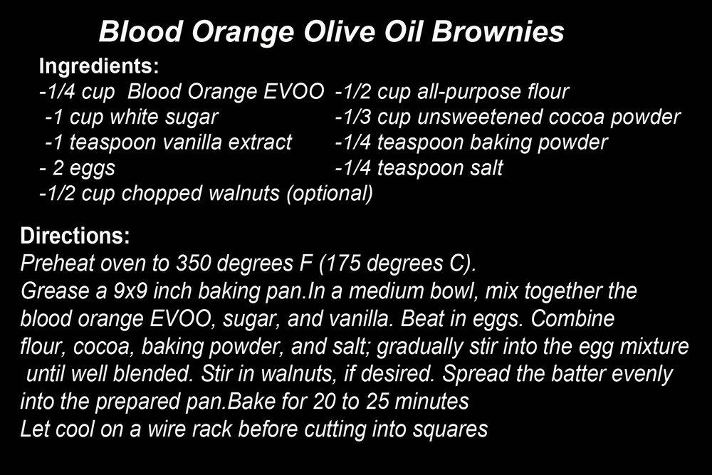 Blood Orange Brownies