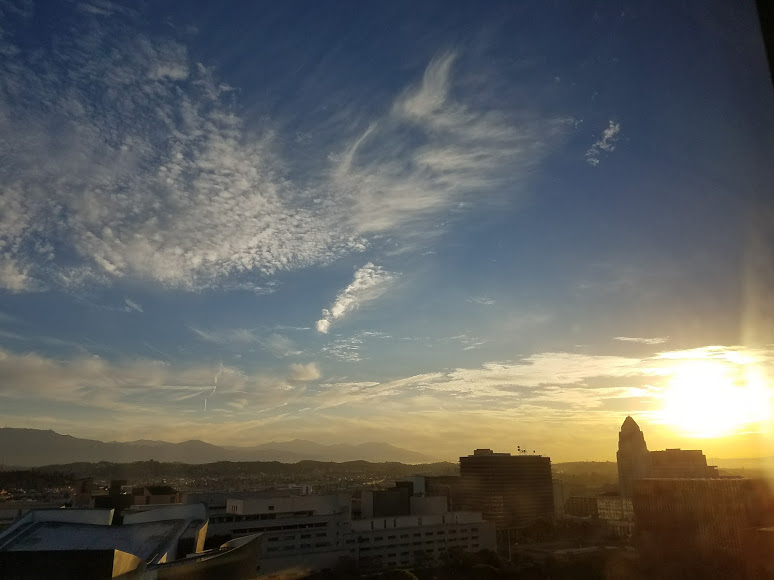 Sunrise in L.A. It's a new day!