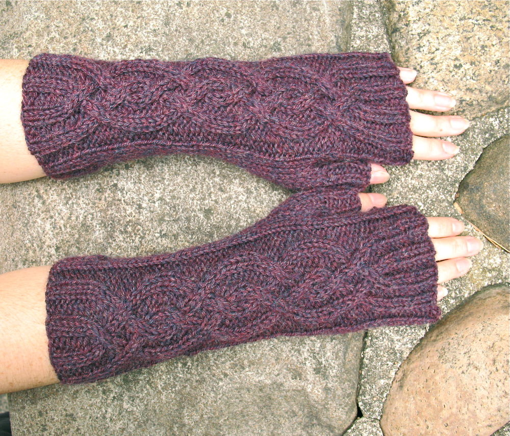 Cabled Fingerless Gloves...will keep you toasty and your fingers free! Made in a luxurious high quality Peruvian wool you won't want to take them off. Many wool heather and tweed colors to choose from. $48