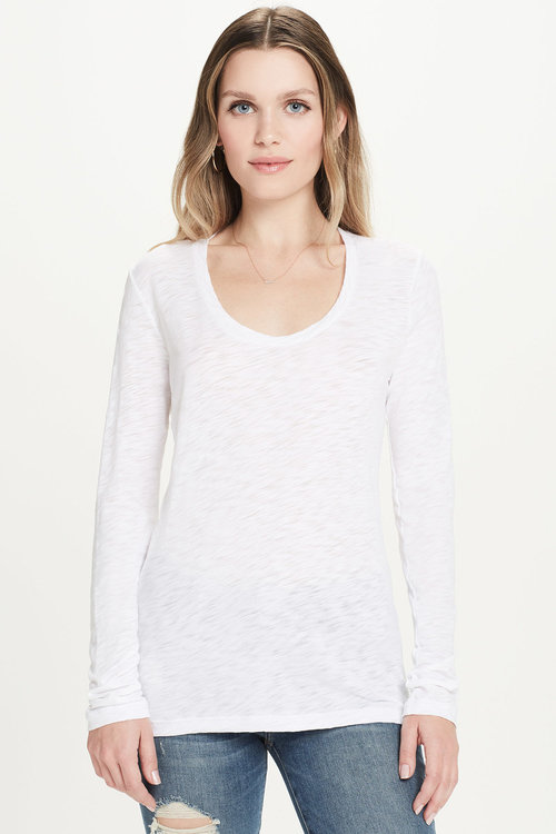 6e45f0d9468 Long Sleeve Scoop Neck Tee — GOLDIE