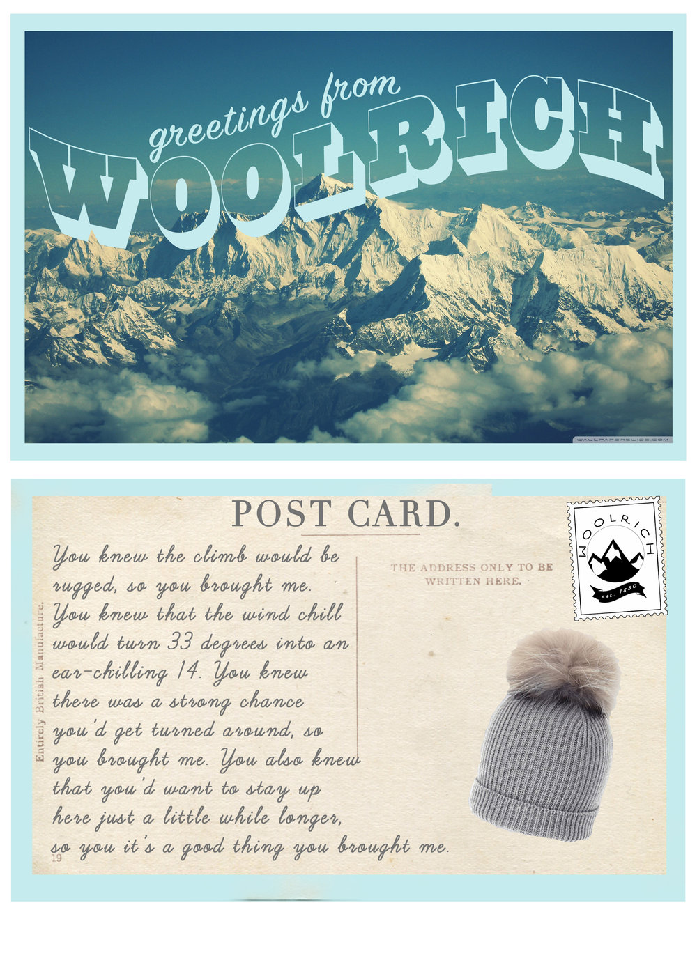 Greetings From Woolrich Writer