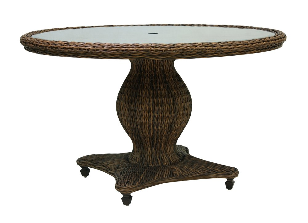 "973848 Antigua 50"" Round Dining Table      *see Book                                                            (973848TW   Antigua Woven Top & Glass)            (973822B       Antigua 50"" Round Dining Table Base)  50.6"" x  50.6""  x  30.2"""