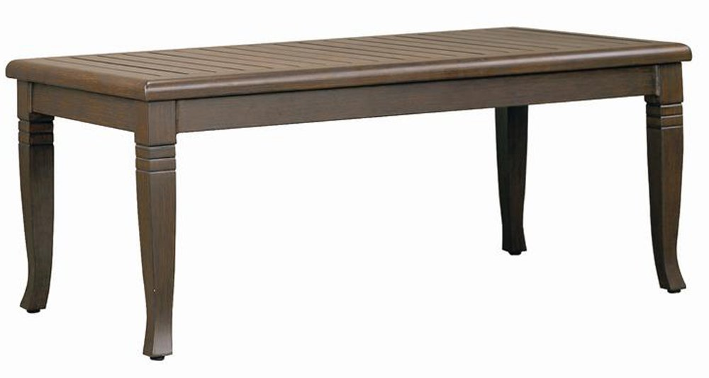 "971235B Catalina Coffee Table Base         (Base only)      * See Book  (Top : W-2648 Farnham Aluminum Faux Wood Top)                   46.3"" x  26""  x  18.7"""