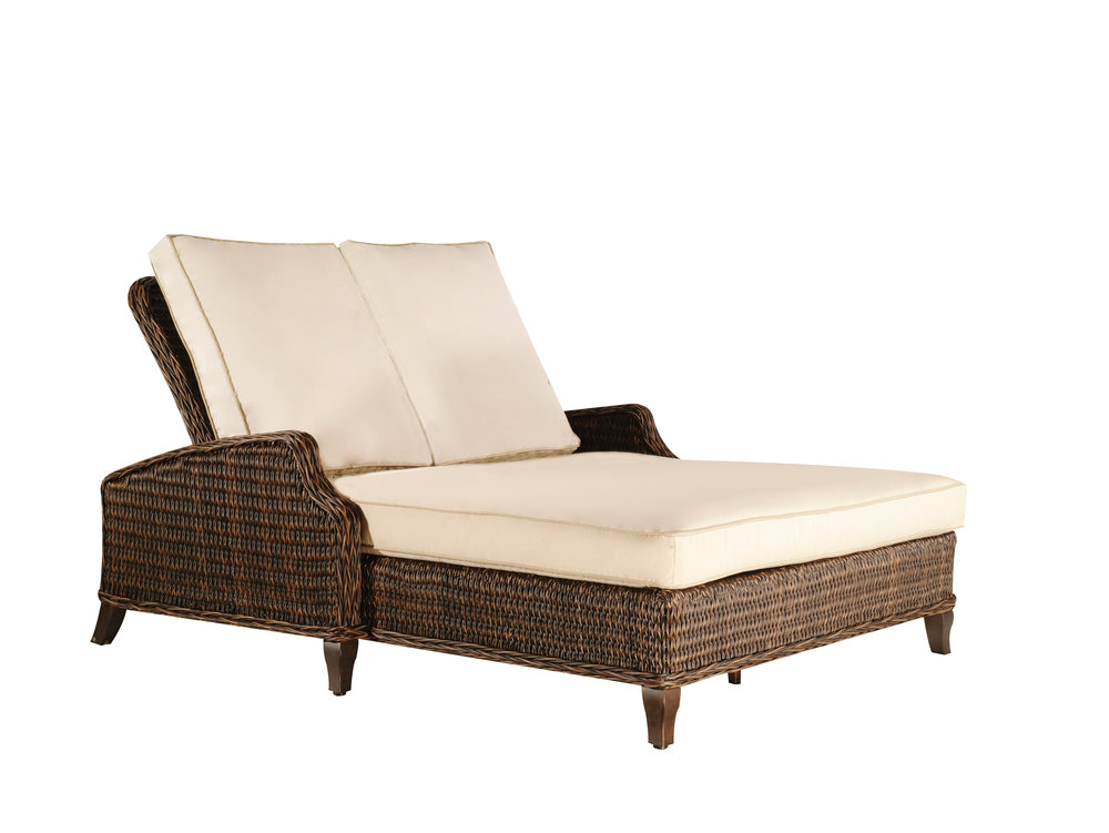 "973054 Monticello Double Adjustable Chaise   55.97"" x 83.9"" x 23.2"