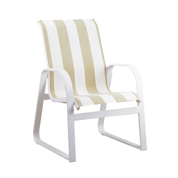"970415L Aruba LB Sled Arm Dining Chair   24.9"" x 29.2"" x 37"""