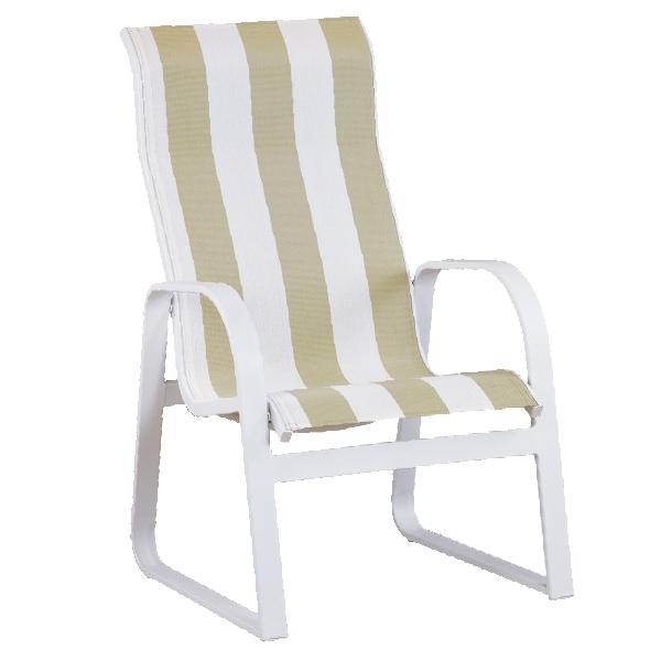 "970415H Aruba HB Sled Arm Dining Chair   24.9"" x 29.2"" x 37"""