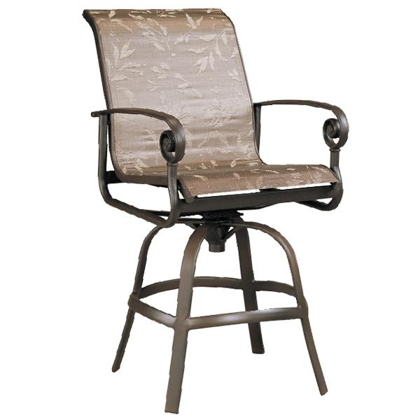 """970612 Caicos Swivel Bar Chair   24.6"""" x 29.5"""" x 48"""""""