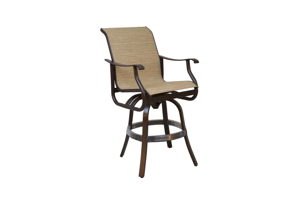 801808 Delray Swivel Bar Chair   25 x 30.1 x 48.3