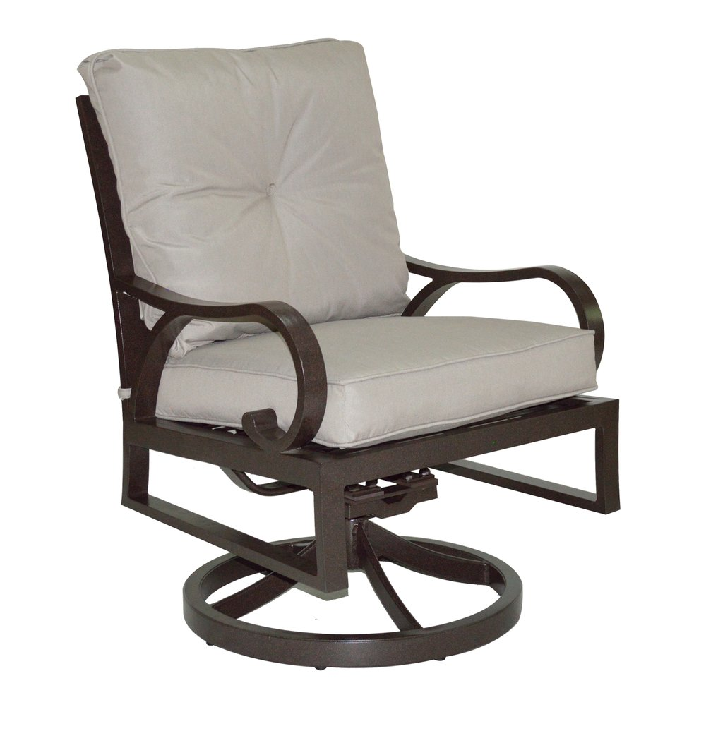 601519 Key Largo Cushioned Dining Swivel Rocker   26 x 30 x36