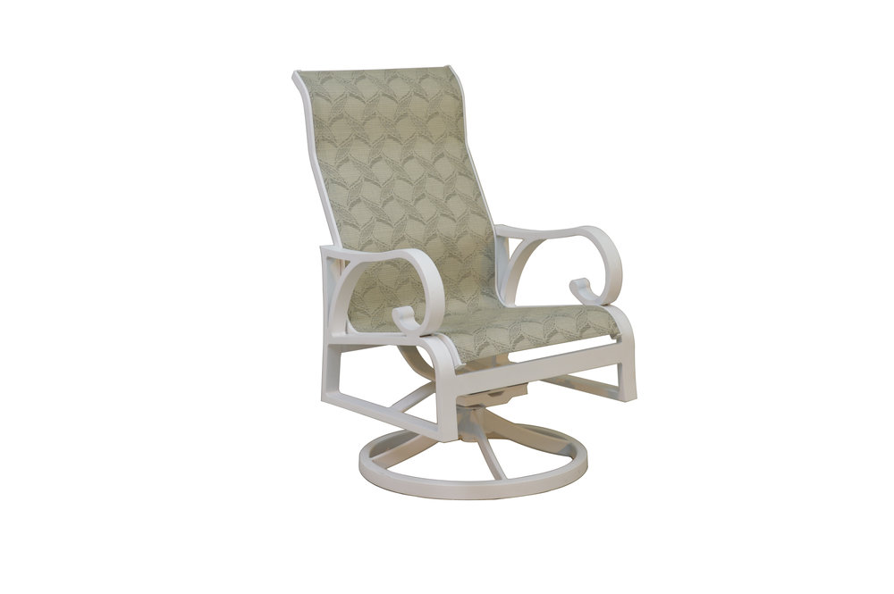 601523 Key Largo Dining Swivel Rocker   24.6 x 29.3 x 42.3