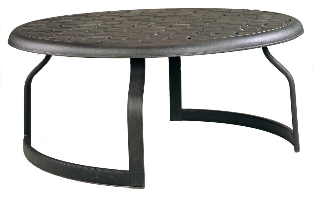 "970505B Mandalay Coffe Table Base   (shown with Cast top)  36.5"" dia x 17.7"""