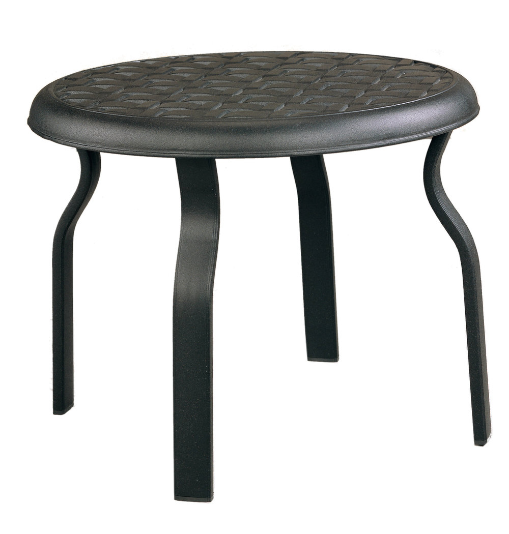 "970522B Mandalay End Table Base   (shown with Cast top)  23.5"" dia x 17.7"""