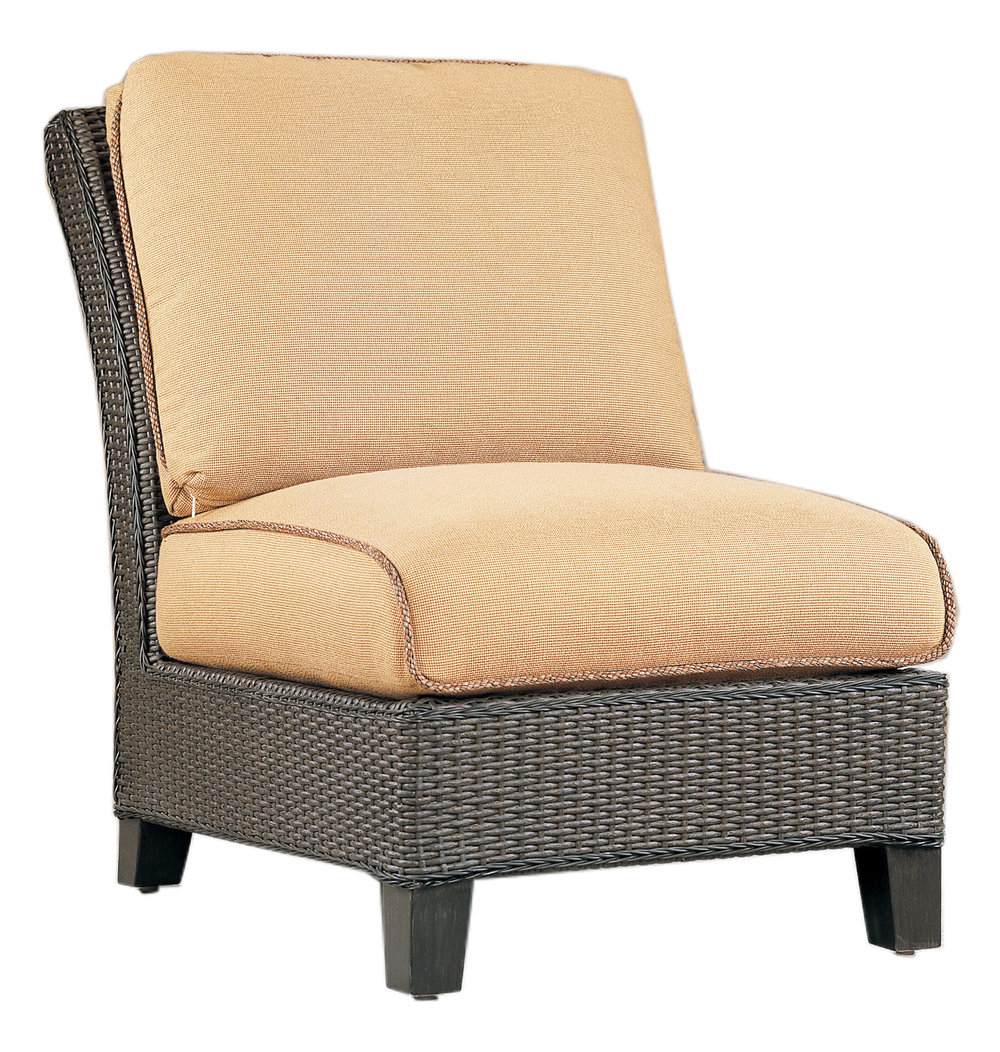 """970131A Monterey Armless Chair   26.5"""" x 40.5"""" x 36"""""""