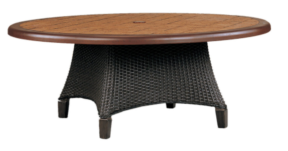 "970136B Monterey Round Coffee Table Base   (top : CS-42R Grandeur Aluminum Faux Stone Top)  25.5"" x 25.5"" x 18"""