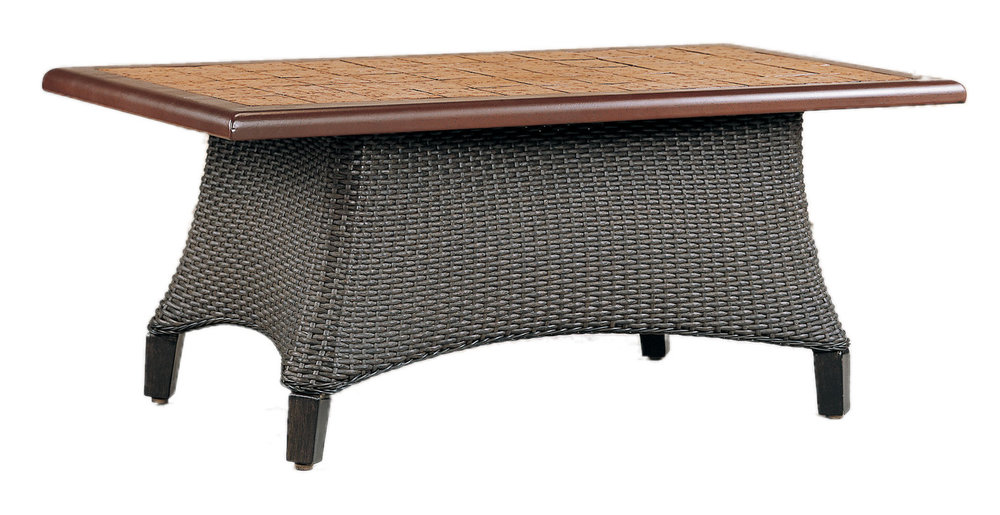 "970135B Monterey Coffee Table Base   (top : CS-2346 Grandeur Aluminum Faux Stone Top)  34.3""x 20.5"" x 17.8"""