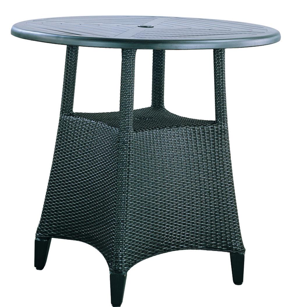 """973020 Monticello Bar Table Base   (top : WF-42R Farnham Aluminum Faux Stone Top)  27.2"""" x 27.2"""" x 39"""""""