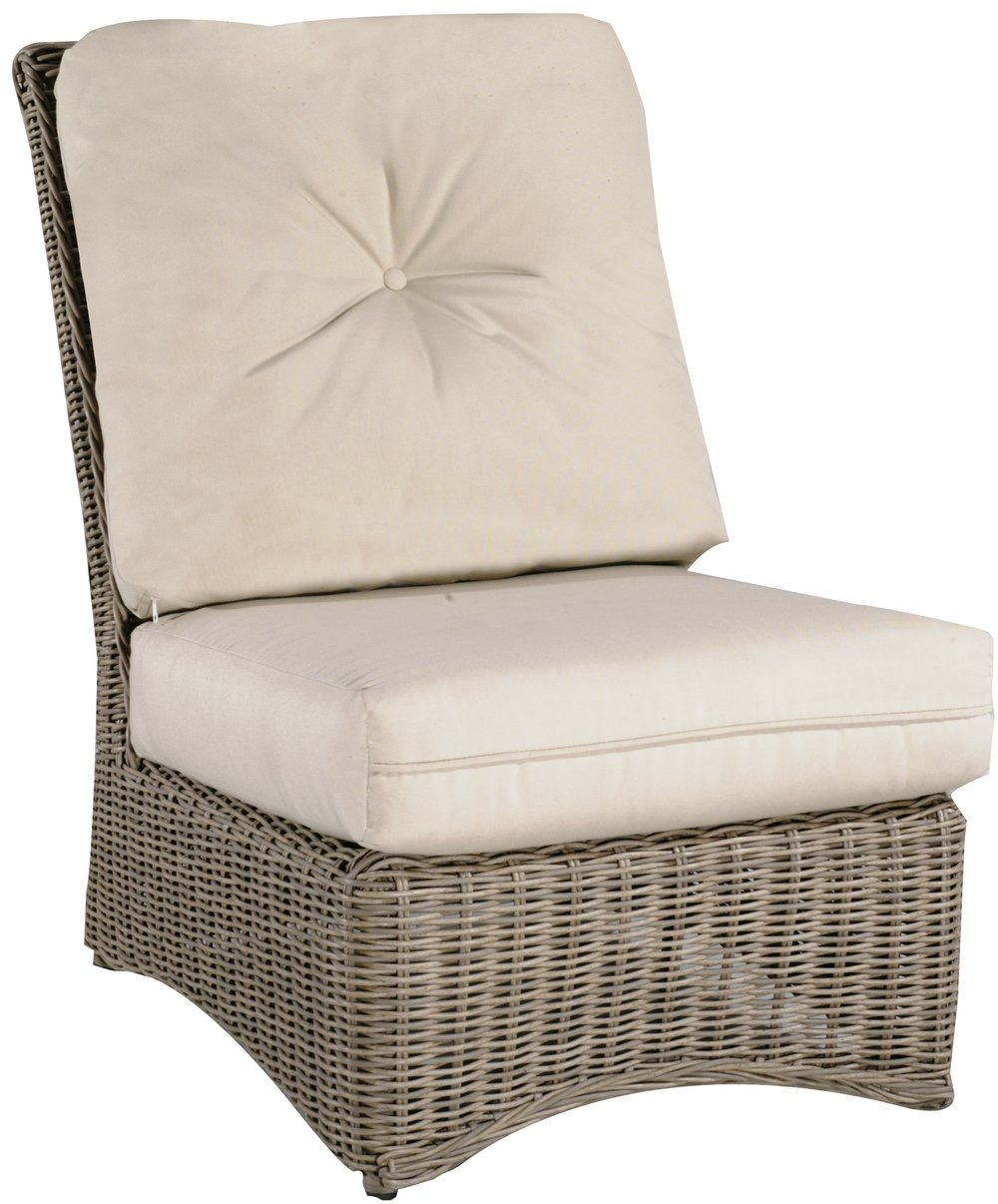 "971931A   West Hampton Armless Chair   26"" x 36.2"" x 36.4"""
