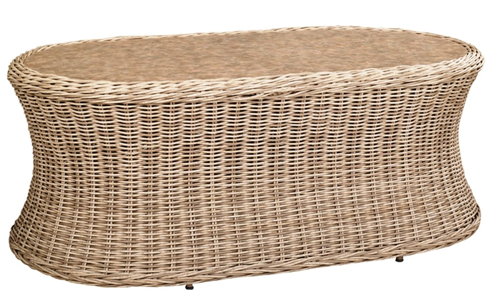 "971935   West Hampton Oval Coffee Table * Erie Top *    971935W   West Hampton Oval Coffee Table * Woven top *   48"" x 26"" x 19"""