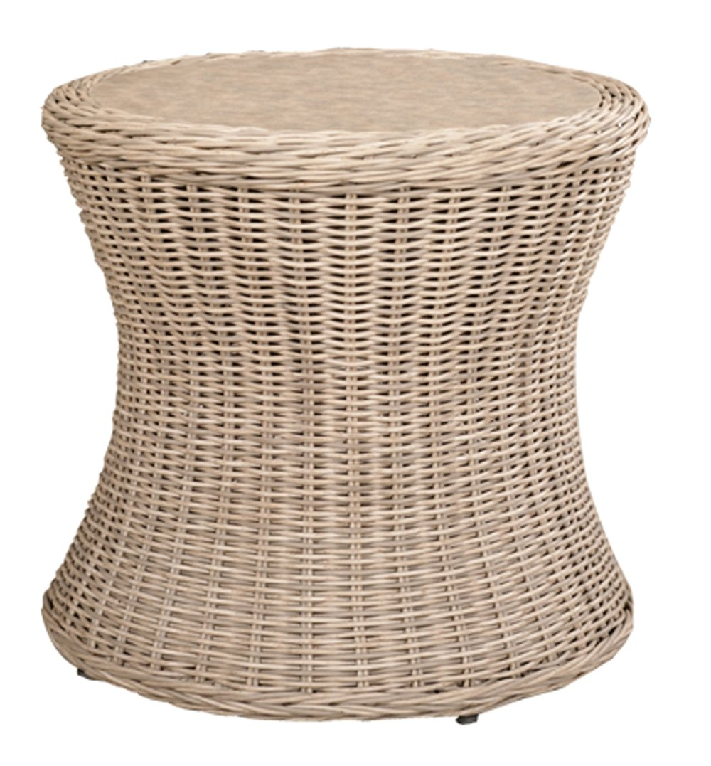"971924   West Hampton Round End Table * Erie Top *    971924W   West Hampton Round End Table * Woven top *   24"" dia x 19"""