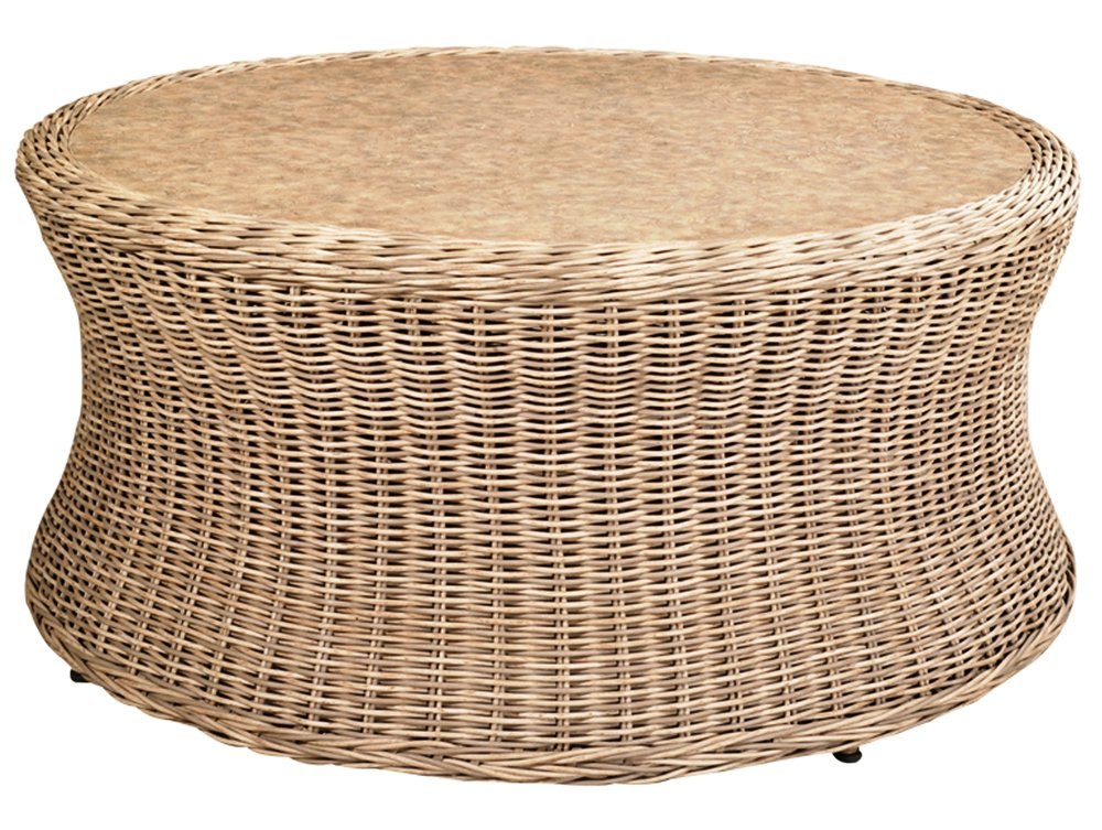 "971942   West Hampton Round Coffee Table * Erie Top *    971942W   West Hampton Round Coffee Table * Woven top *   42"" dia x 19"""