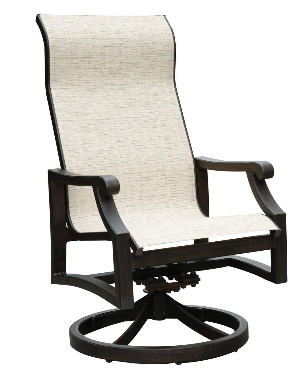 "970819 Venice Sling Dining Swivel Rocker   27.4"" x 20"" x 42"""