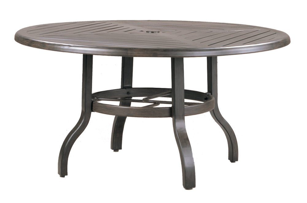 "970842B Venice Conversation Table Base  (Base only)      * See Book  (Top : W-42R Farnham Aluminum Faux Wood Top)   25"" dia x 23"""