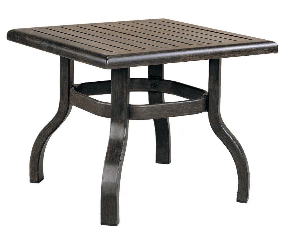 "970824B Venice End Table Base  (Base only)                 * See Book  (Top : W-23S Farnham Aluminum Faux Wood Top)   20"" x 20"" x 17.7"""