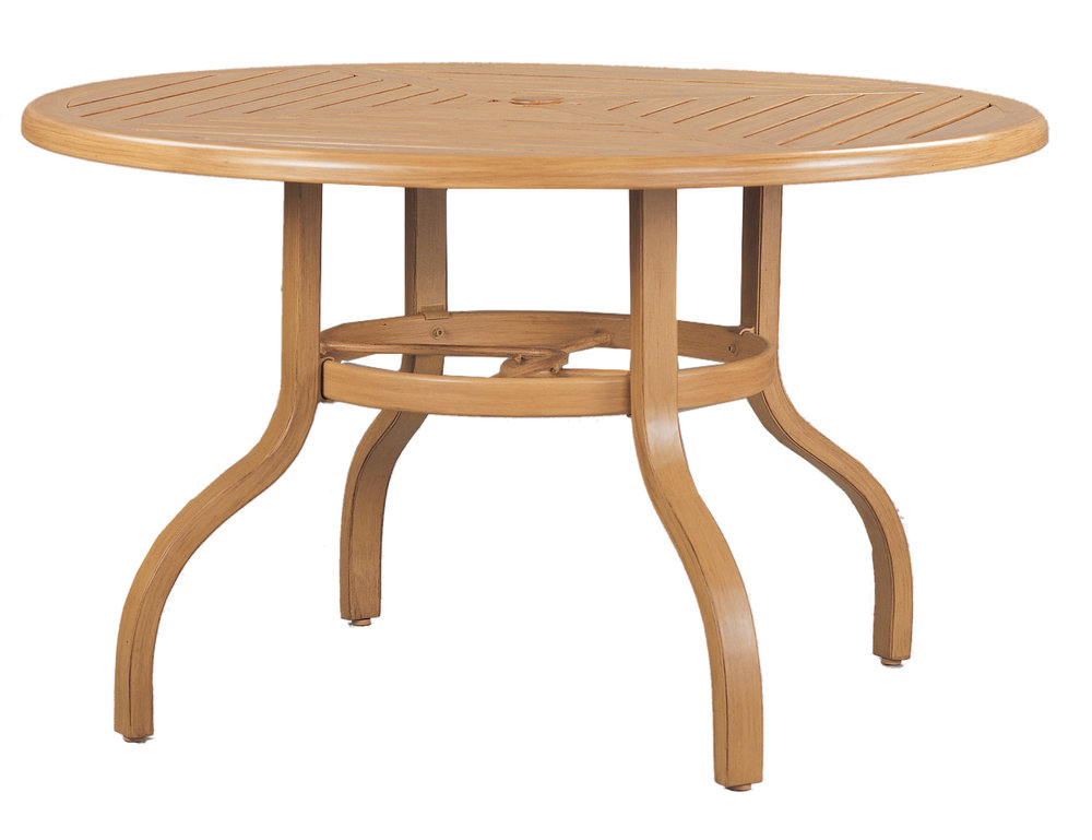 "970848B Venice 48"" Dining Table Base  (Base only)      * See Book  (Top : W-48R Farnham Aluminum Faux Wood Top)   25"" x 25"" x 27"""