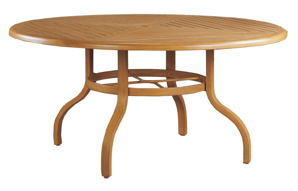 "970860B Venice 60"" Dining Table Base  (Base only)      * See Book  (Top : W-60R Farnham Aluminum Faux Wood Top)   32"" x 32"" x 27"""