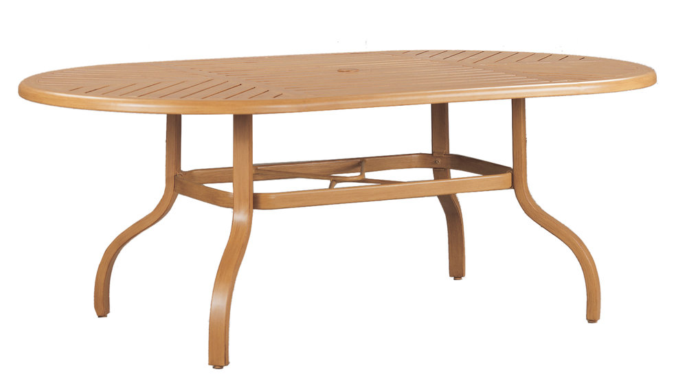 "970876B Venice 76"" Dining Table Base  (Base only)      * See Book  (Top : W-4276 Farnham Aluminum Faux Wood Top)   49"" x 30"" x 27"""