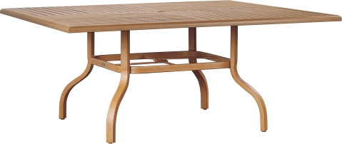 "970866B Venice 66"" Square Dining Table Base  (Base only)      * See Book  (Top : W-6084 Farnham Aluminum Faux Wood Top)   34"" x 34"" x 27"""