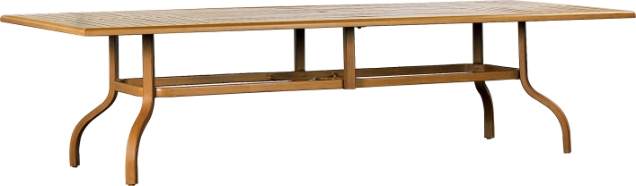 "9708112B Venice 112""  Dining Table Base  (Base only)      * See Book  (Top : W-44112 Farnham Aluminum Faux Wood Top)   78"" x 30"" x 27"""