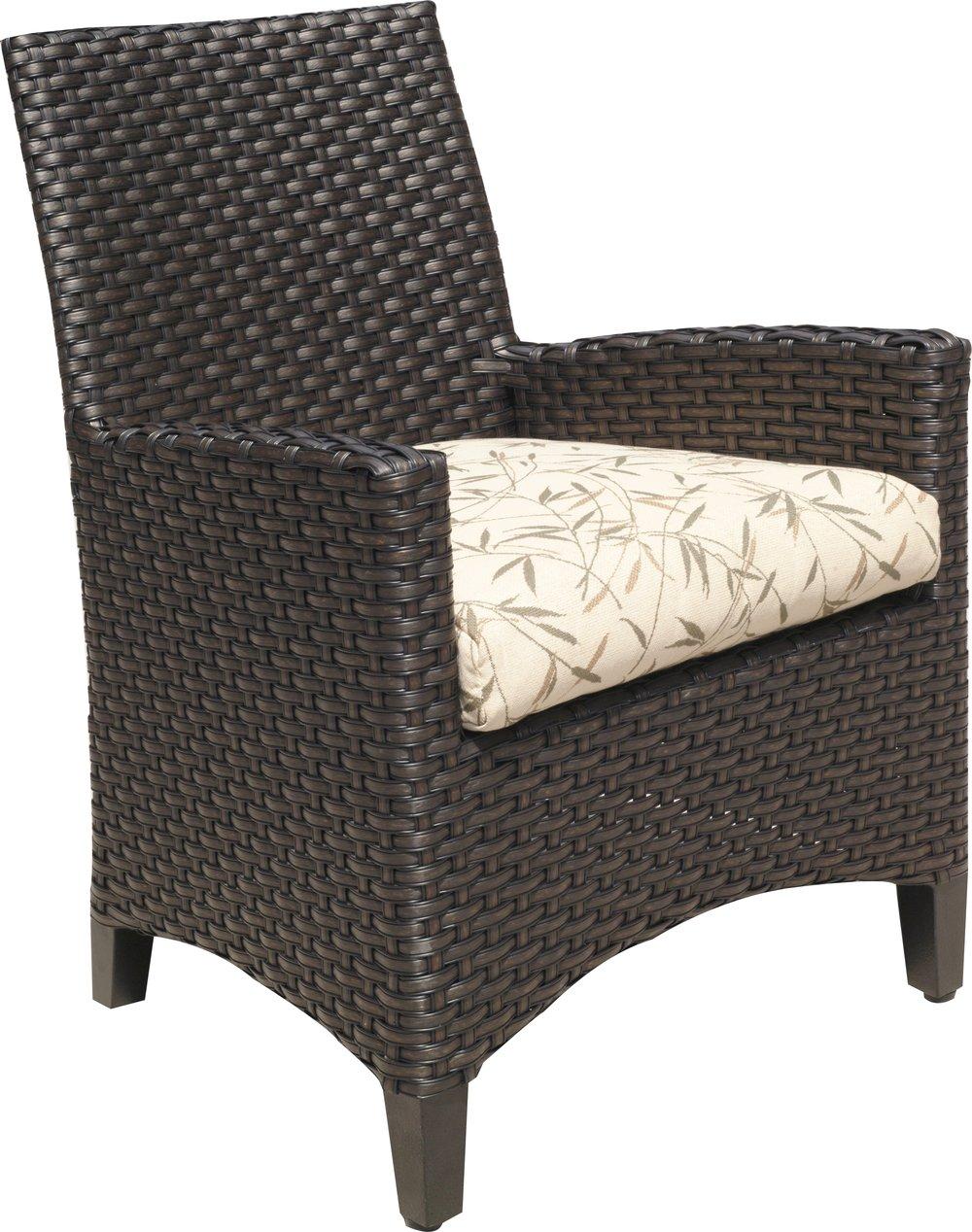 "971521   Kapaa Dining Arm Chair   25.8"" x 27.4"" x 36.5"""