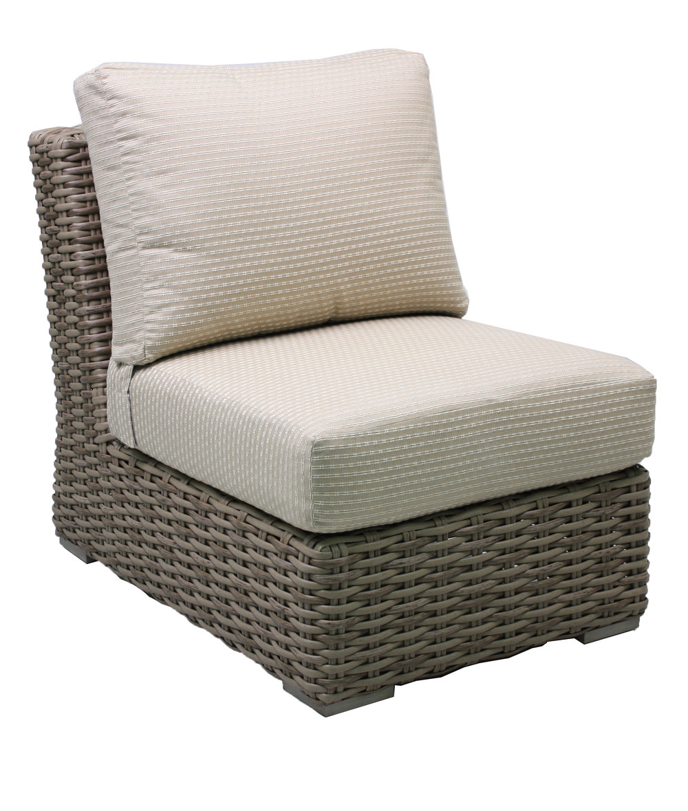 "957131A Sorrento Armless Chair   25.6"" x 36.8"" x 30.5"""