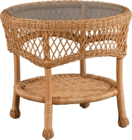 "950522 Rivierra Round End Table   23.5"" dia x 16.5"""