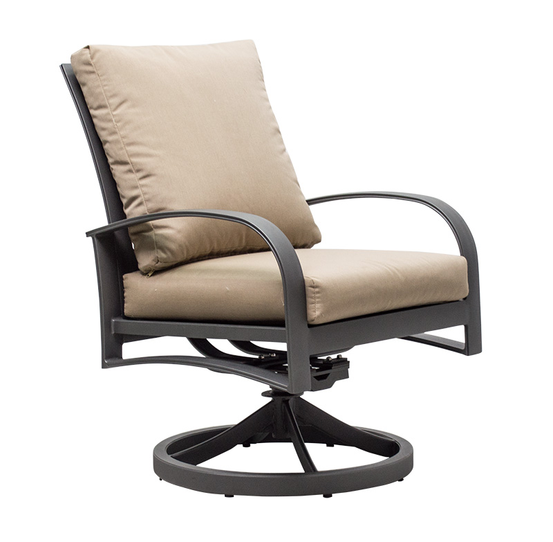 "971019 Martinique Cushioned Dining Swivel Rocker   27"" x 30.7"" x 37.4"""