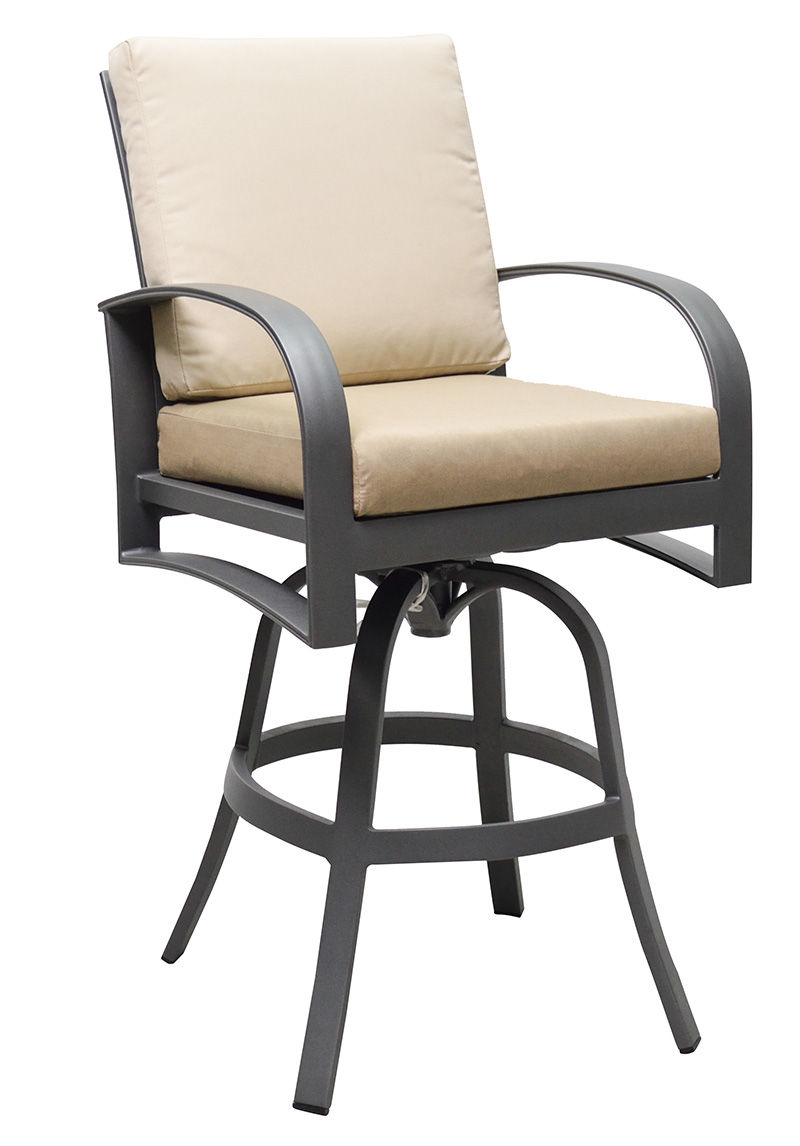 "971008 Martinique Cushioned Bar Chair   19.7"" x 28"" x 50.1"""