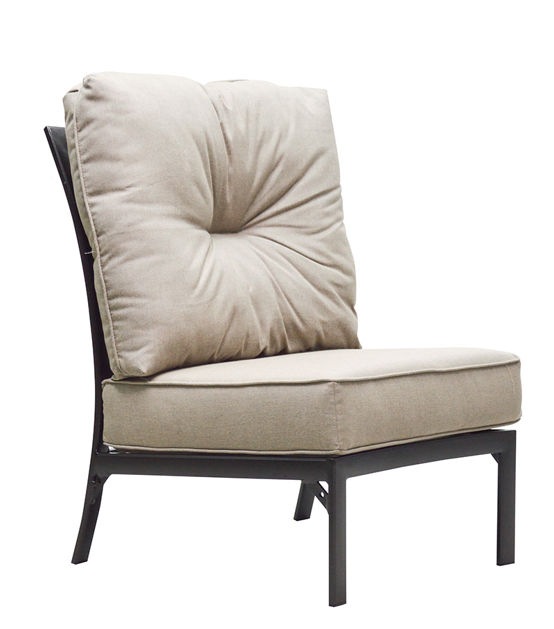 "970531HA Mandalay HB Crescent Armless Chair   31.5"" x 32.2"" x 38.5""  (Image Incorrect NO BUTTON)"